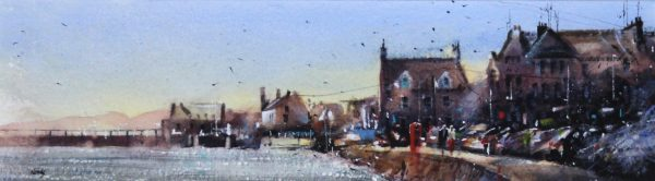 Graham Wands_The Ferry Phonebox, Beach Crescent_Watercolour_6x21.5