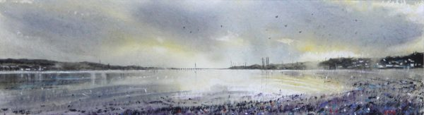 Graham Wands_The Tay from Broughty Ferry_Watercolour_6x21.5