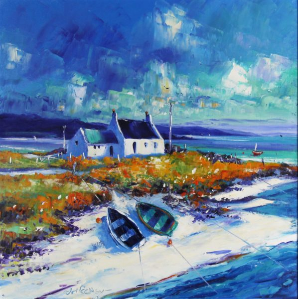 Jean Feeney_Bright Summer Day, Torridon Shore_Oils_20x20