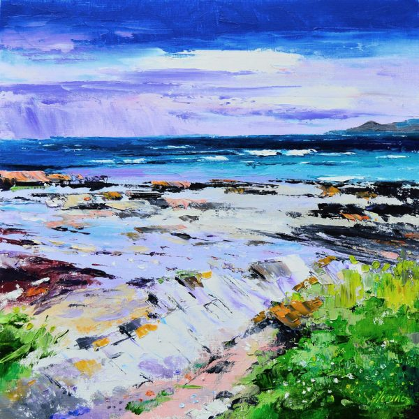 Kevin Fleming_Ardnave Point by Loch Gruinart, Islay. canvas size 12x12, oils, 299
