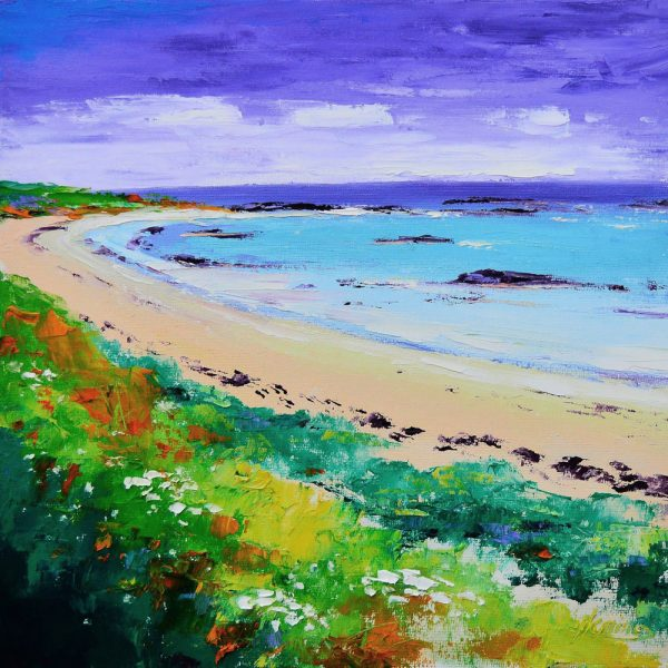 Kevin Fleming_Early Autumn, Benbecula Bay. canvas size 12x12, oils, 299