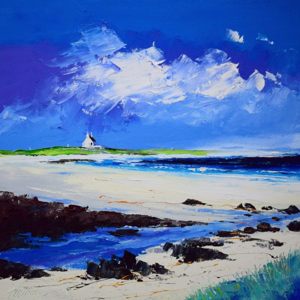 Kevin Fleming_Summer, Sorobaidh Bay, Tiree. canvas size 16x16, oils, 499