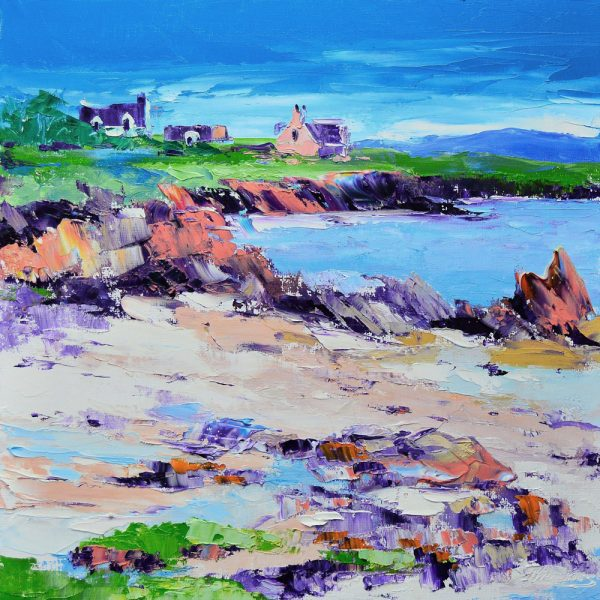 Kevin Fleming_Summer, St. Ronan's Bay, Iona. canvas size 12x12, oils, 299