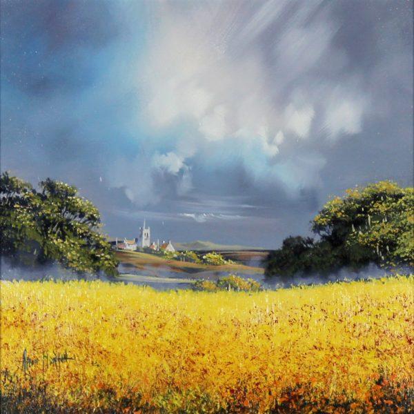 Allan Morgan_Harvest Yellow_Oils_12x12_23.25x23.25_2019 unframed