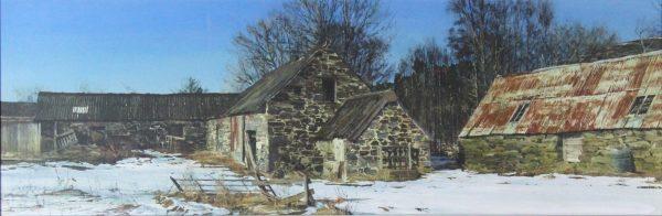 John Bell_Blacklunans, Glenshee_Acrylic_11.5 x 35_Unframed