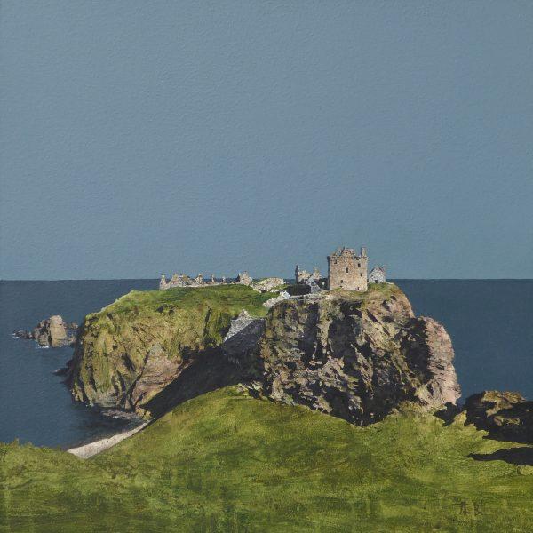 John Bell_Dunnottar Castle_Acrylic_18x 18