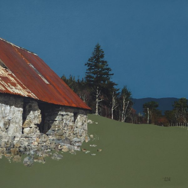 John Bell_Its now a Cow Shed, near Balmoral_Acrylic_24x24