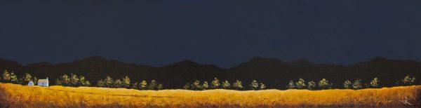 John Russell_Acrylic_A Highland Croft_11.5 x 47_