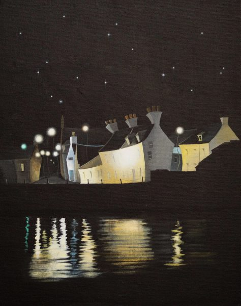 Gail Stirling Robertson_Midnight Fisher Street_16x20_595
