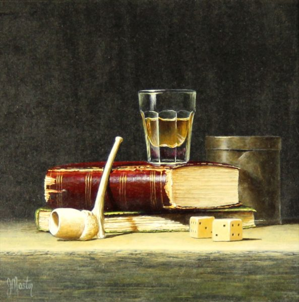 Ian Mastin_Oil_A Wee Dram_8x8_1200 unframed 1