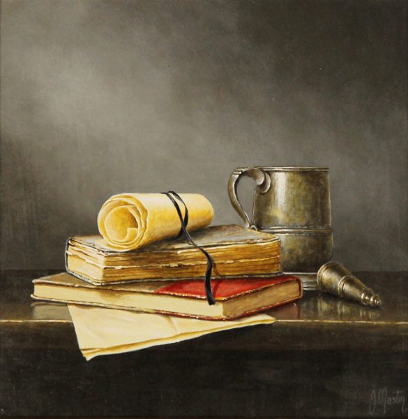 Ian Mastin_Oil_Paperwork (I)_10x10_1400 unframed 1
