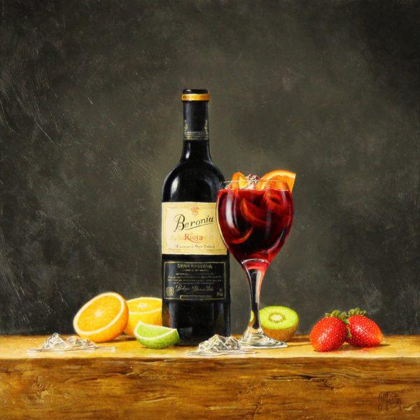Ian Mastin_Oil_Rioja and Sangria_14x14_2200 unframed 1