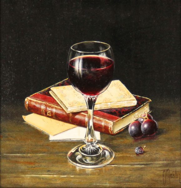 Ian Mastin_Oil_Wine with Eve_8x8_1200 unframed 1