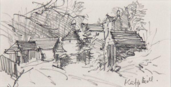 James McIntosh Patrick_Original._Pencil c.1995_Signed Verso_Knapp Mill, Rossie Priory, Perthshire_550_unframed