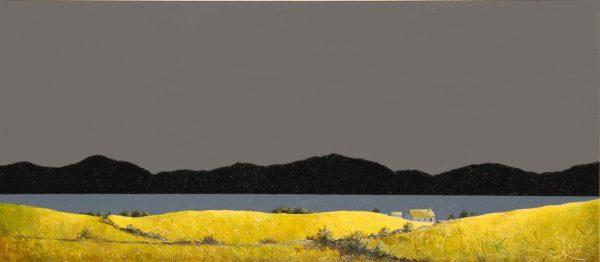 John Russell_Original_Acrylic_A Scottish Croft__15.5x35.5_23x43_750_unframed