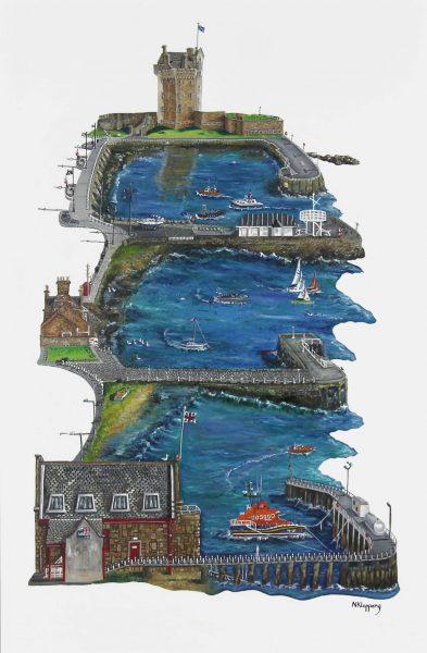 Nicola Kleppang_Original_Oils_Ferry Piers_Unframed_35x23_42x30_1600_white