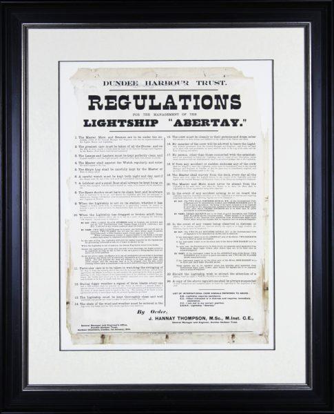 Original Vintage Poster (1934) Abertay Lightship Harbour Regulations_300_25.5x19_35.5x30