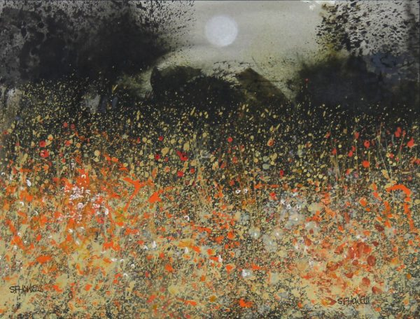 Sue Howells_Mixed Media_Moon Walking_10x12.5_21x24_550_unframed