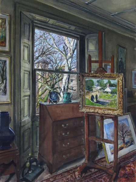 James McIntosh Patrick_Original_Watercolour_Studio Interior, West Window_img size 29 x 22 unframed