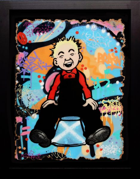 Sleek Studio_Oor Wullie - Saltire (II)_Aerosol Paint with Resin_34x24_39x31_1500