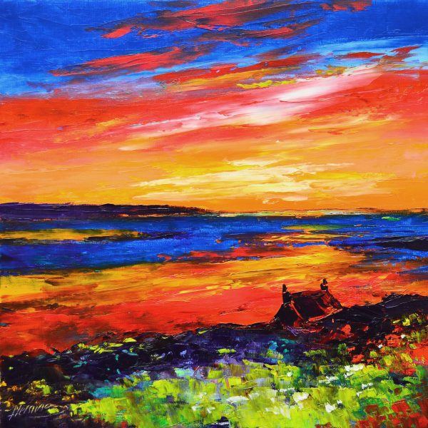 6.Brilliant Red Sunset, Loch Gruinart, Islay