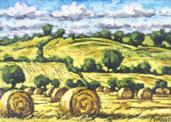 Charles Monteith Walker_Golden Harvest_Oils_Size 8x12_14.25x17.25_1100 unframed