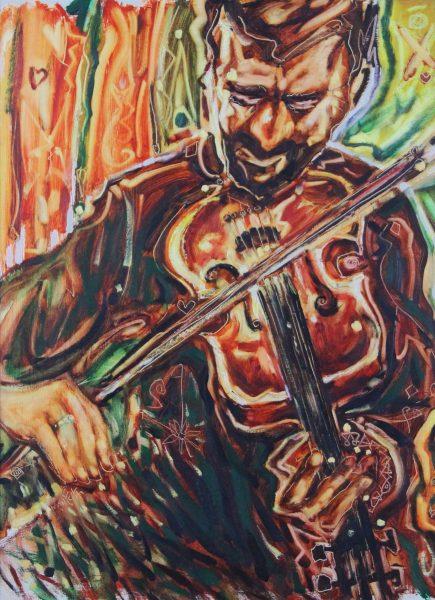 Charles Monteith Walker_The Fiddler_Oils_Size 18x24_25.5x31_1500 unframed