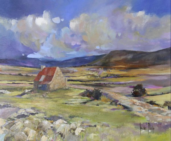 Kate Philp unframed 4_Dusk Over Ryvoan Bothy (Cairngorms)_19.5x23.5_29x33