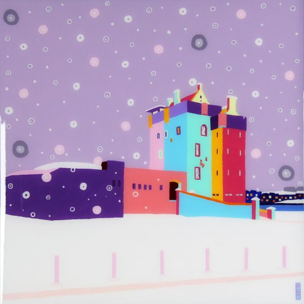 Ross Grant Thompson_ 20x20_24.5x24.5_Snow on Broughty Ferry Castle_595_unframed