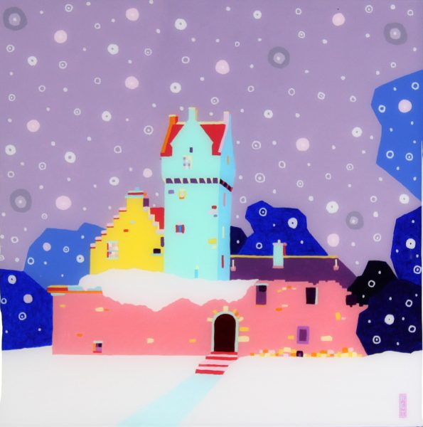 Ross Grant Thompson_ 20x20_24.5x24.5_Snow on Castle and Harbour_595_unframed