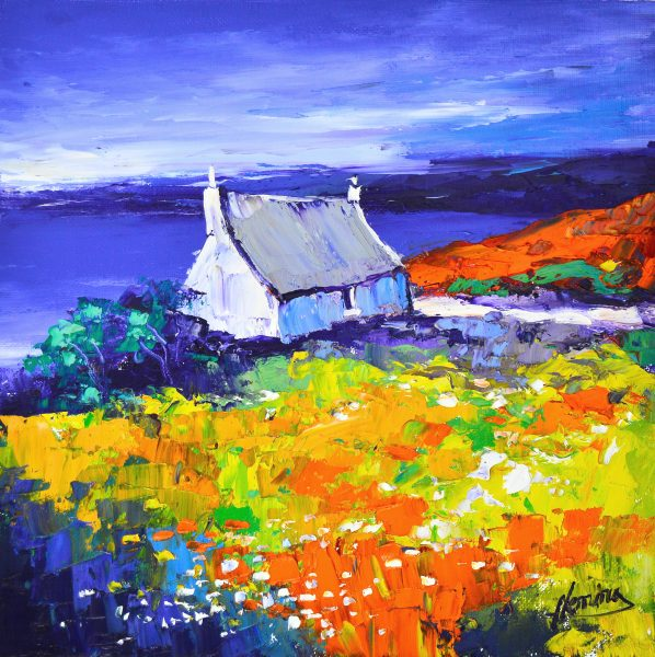 1.Evening Light, Cottage near Tarbert, Harris