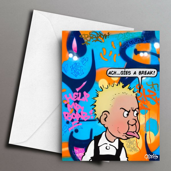 Cheeky Wullie Greeting Card Front