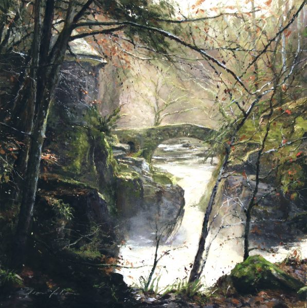 FIONA HALDANE_ORIGINAL_ 12 x 12_ Bridge of Light, Hermitage