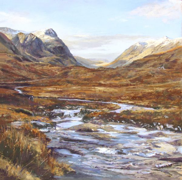 FIONA HALDANE_ORIGINAL_ 12 x12_Downstream, GlencoeNOT SIGNED