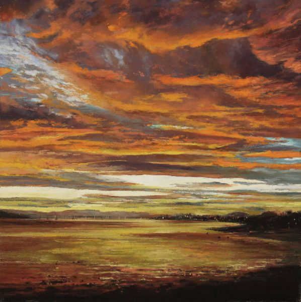 FIONA HALDANE_ORIGINAL_ 12x12_Reflective Evening, River Tay NOT SIGNED