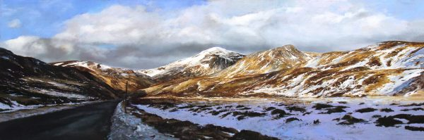 FIONA HALDANE_ORIGINAL_ 16x48_The Road Home, Glenshee