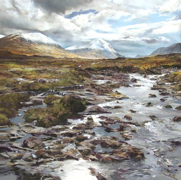 FIONA HALDANE_ORIGINAL_ 24x 24_Snow Ridge, Marscoe, Skye NOT SIGNED