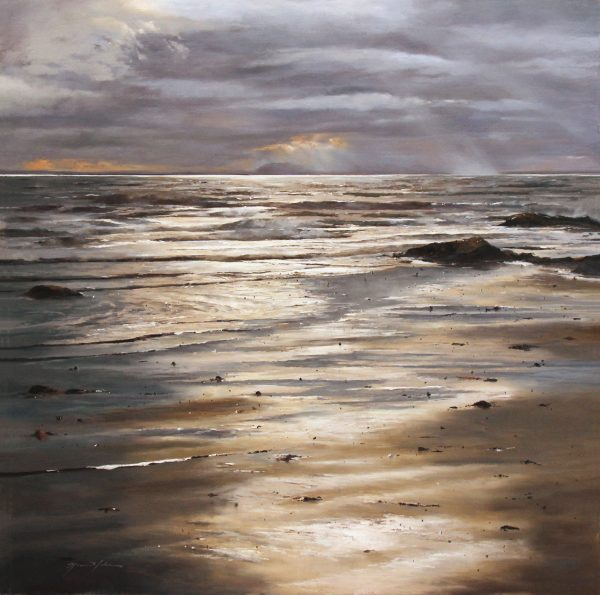 FIONA HALDANE_ORIGINAL_ 36x36_Shore to Shore, Lower Largo