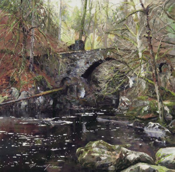 FIONA HALDANE_ORIGINAL_12x12_Pools of Braan, Hermitage