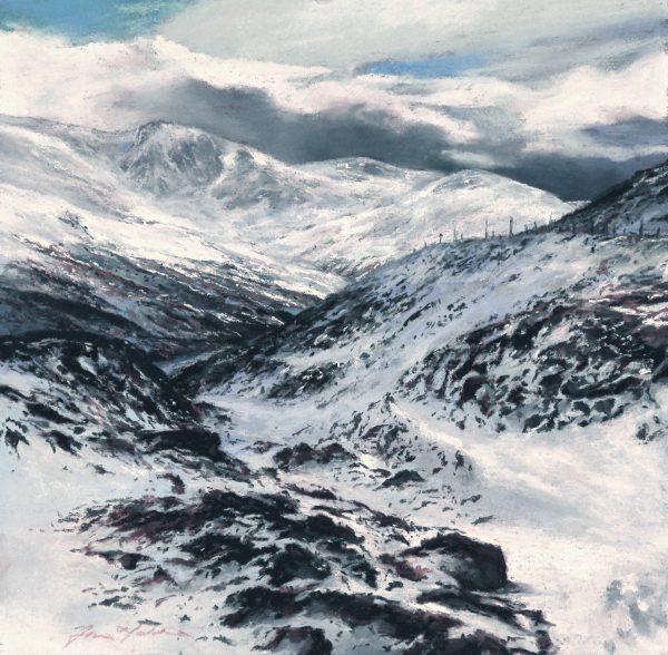 FIONA HALDANE_ORIGINAL_12x12_Winter, Glenshee