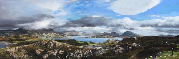 FIONA HALDANE_ORIGINAL_16x48_Viewpoint, Loch Torridon
