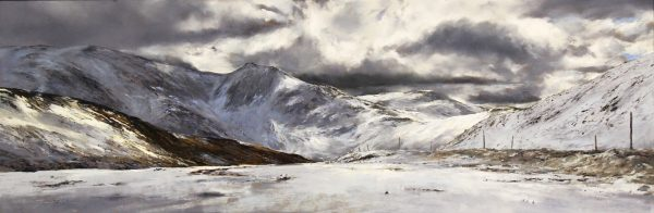 FIONA HALDANE_ORIGINAL_16x48__Amethyst Snowfall, Glenshee