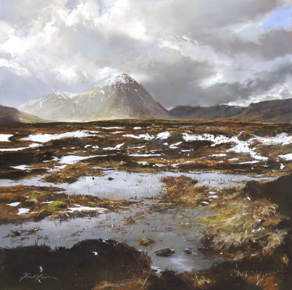 FIONA HALDANE_ORIGINAL_24 x24_ The Moor and the Mountain, Buachaille Etive Mor, Glencoe