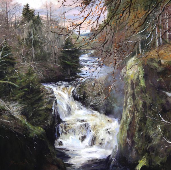 FIONA HALDANE_ORIGINAL_24 x24_ The Thunder of Reekie Linn