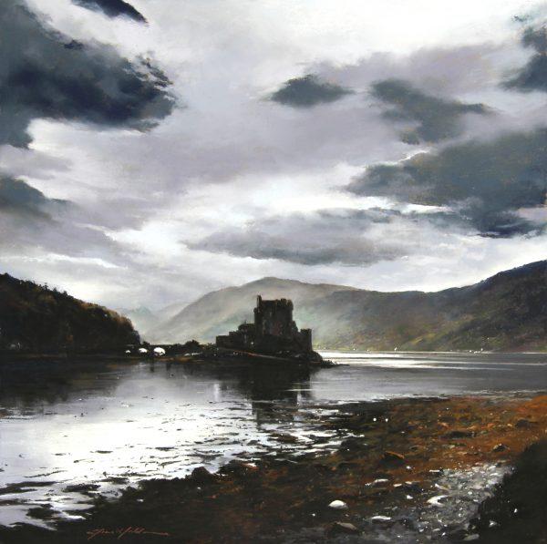 FIONA HALDANE_ORIGINAL_24x24_Solitude, Eilean Donan Castle