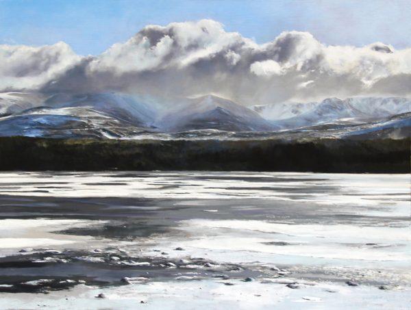 FIONA HALDANE_ORIGINAL_36x48_Eastern Snow, Loch Morlich
