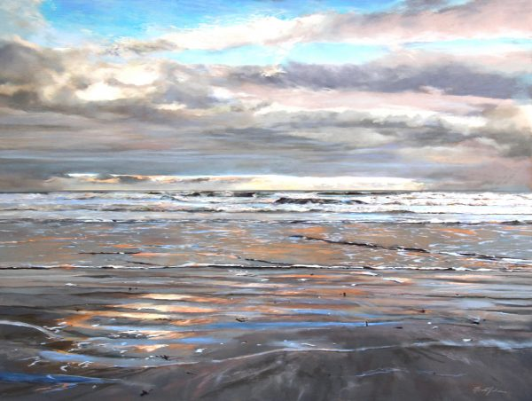 FIONA HALDANE_ORIGINAL_36x48_Sands of Colour, St. Andrews