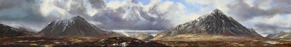 FIONA HALDANE_ORIGINAL_8x48_The Guardians of Glen Etive, Rannoch Moor