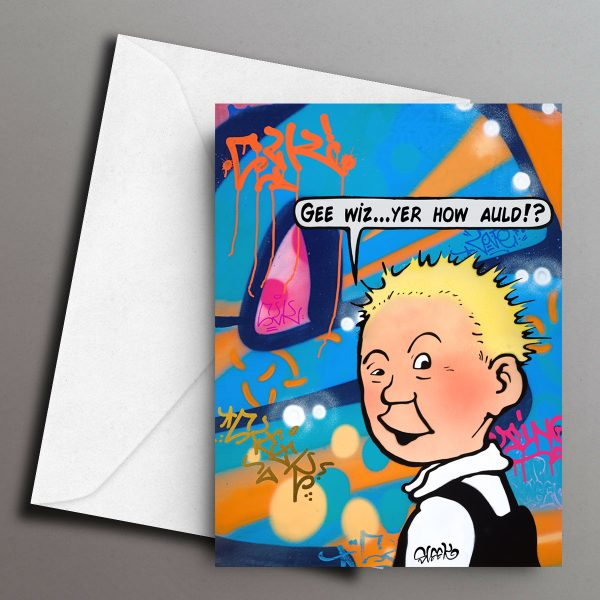 Gee Wiz Greeting Card Front