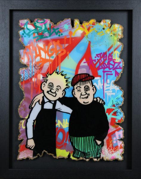 Sleek Studios_Best Pals_Mixed Media_39x31